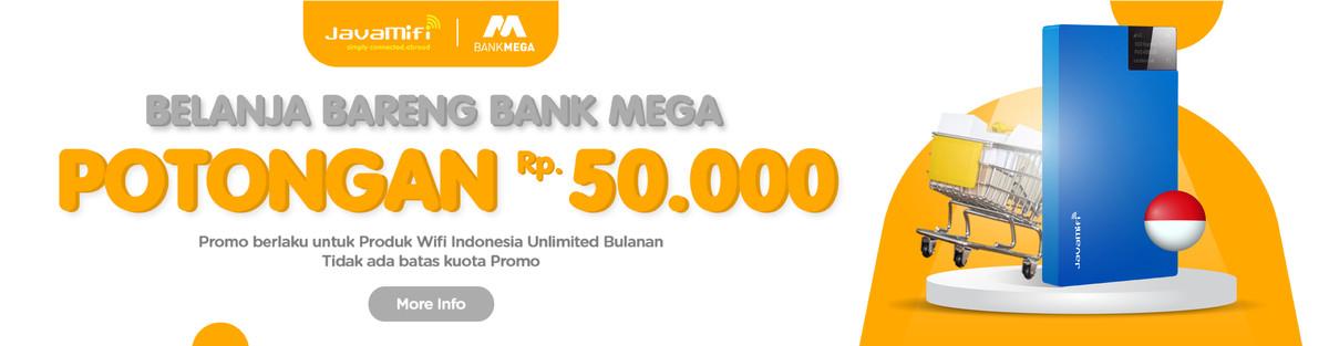 Belanja Online Di Java Mifi Bareng Bank Mega Diskon 50 Ribu